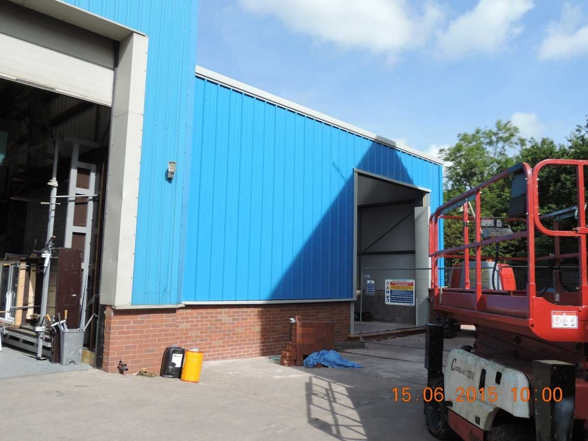 Factory Extension Nears Completion