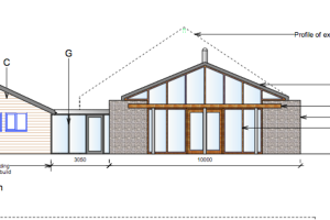 Contemporary kitchen extension to period house