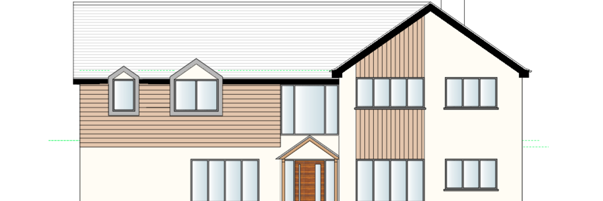 Detached House Extension Drawing